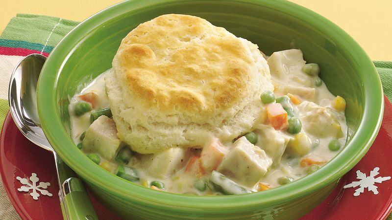 Home-Style Turkey and Biscuit Casserole