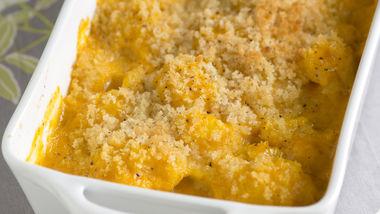 Cheesy Pumpkin Cauliflower Gratin