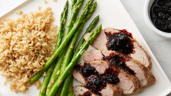 Blueberry Balsamic Pork Tenderloin