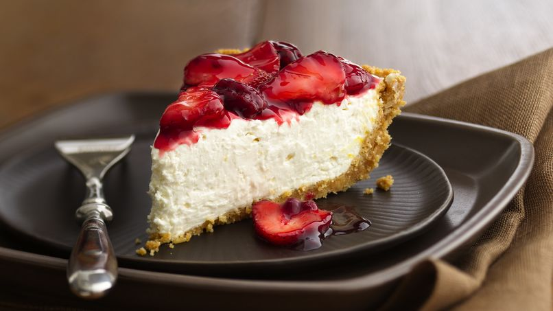 No-Bake Strawberry-Raspberry Cheesecake