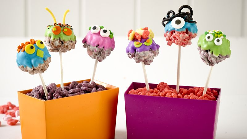 No-Bake Monster Cereal Pops