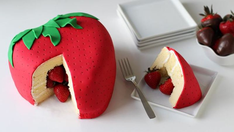 Strawberry Surprise Cake