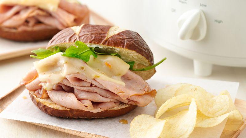 Slow-Cooker Ham Sandwiches