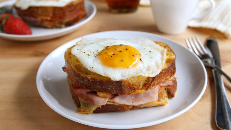 Ham and Cheese-Stuffed French Toast