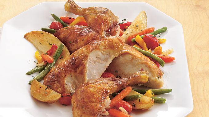 Oven-Roasted Chicken and Vegetables (Cooking for Two)