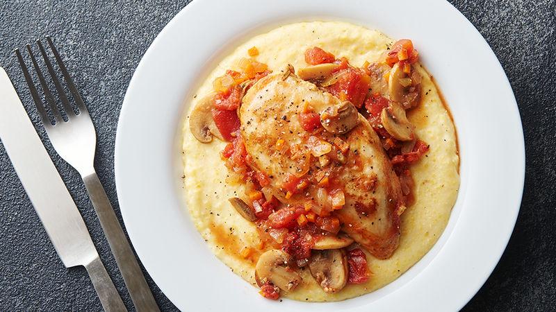 Chicken Cacciatore with Creamy Polenta