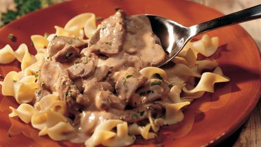 Classic Beef Stroganoff (lighter recipe)