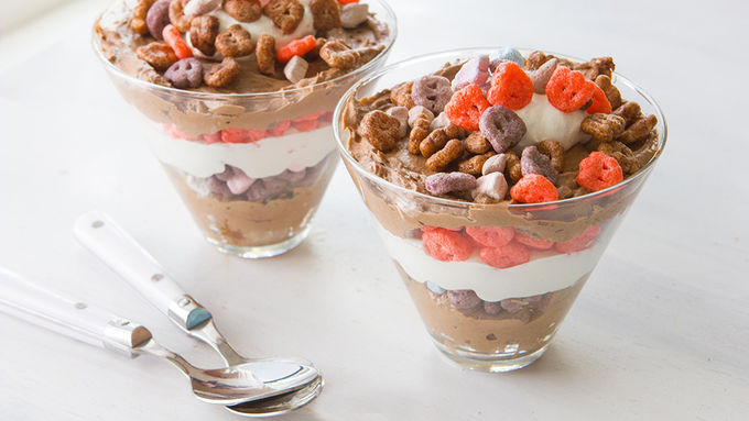 Monster Cereal Pudding Parfaits