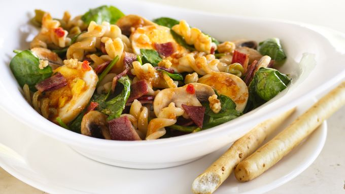 Spinach and Caesar Pasta Salad