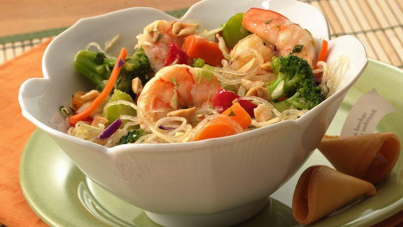 Sesame Stir-Fry Shrimp Salad