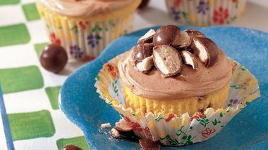 Malted Milk Ball Cupcakes