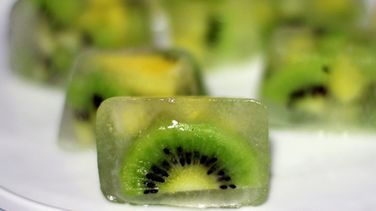 Kiwi and Pineapple Flavored Ice Cubes