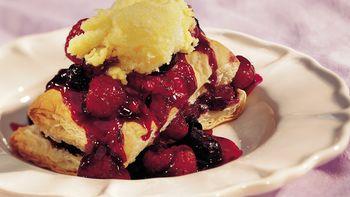 Raspberry-Blueberry Shortcakes