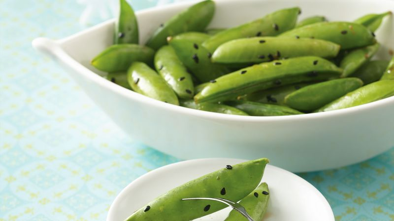 Fresh Sugar Snaps with Sesame