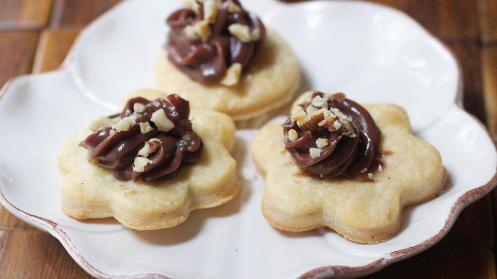Chocolate Hazelnut Flatbread Bites