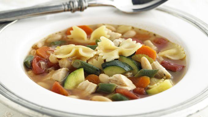 Skinny Chicken Minestrone Soup