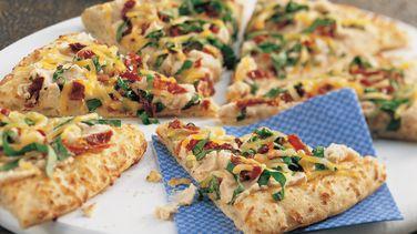Pizza de Alubias y Espinacas