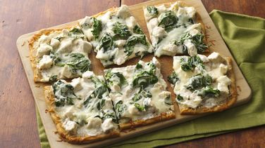 Gluten-Free Chicken Alfredo Pizza