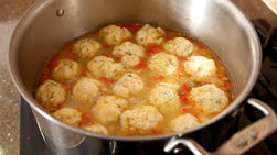 Fresh Vegetable Chicken Soup with Quinoa Dumplings Step by Step