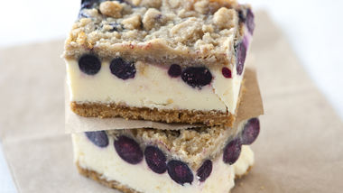 Lemon-Blueberry Cheesecake Bars