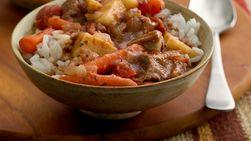 Estofado de Carne en Olla de Cocción Lenta con Arroz