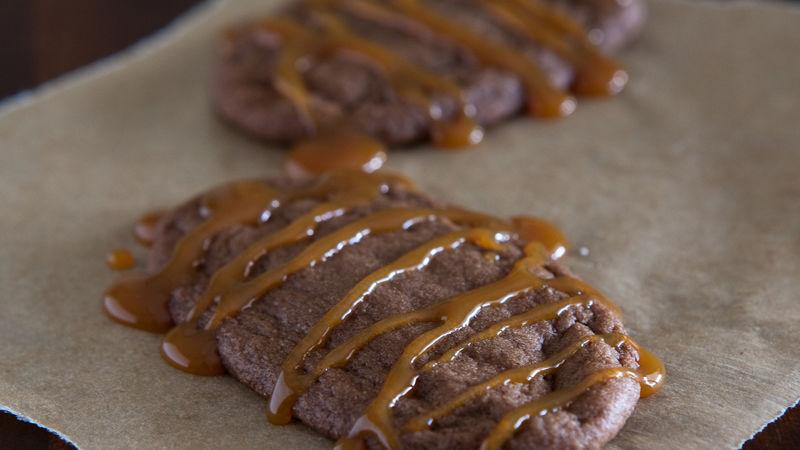 Chocolaty Caramel Cookies