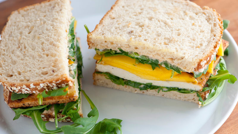 Crispy Tofu and Mango Sandwiches
