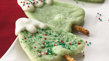 Snow-Capped Tree Cookies