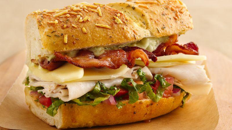 Turkey Club Sandwich Ring with Avocado Aioli