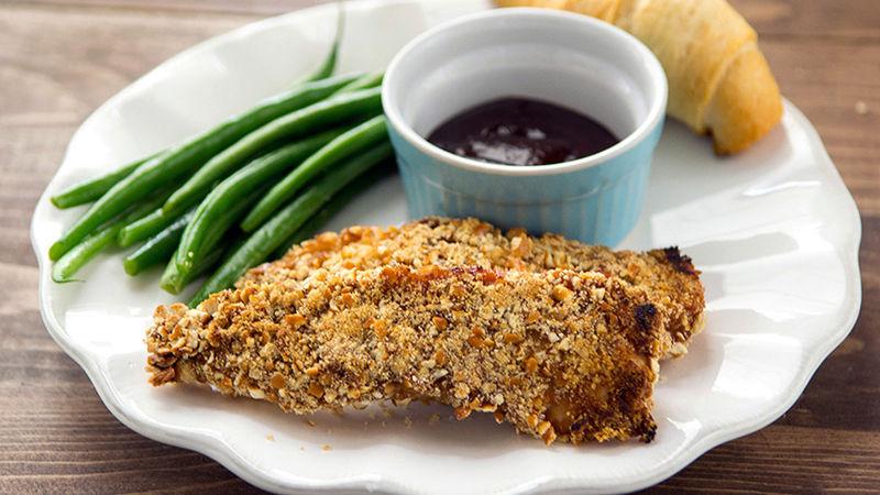 Pretzel-Crusted Chicken Fingers