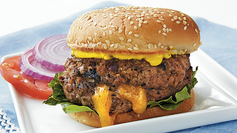 Spicy Cheddar Monster Burgers
