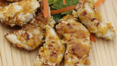 Zesty Breaded Chicken with Mustard and Apricot