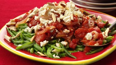 Green Beans with Tomatoes and Feta