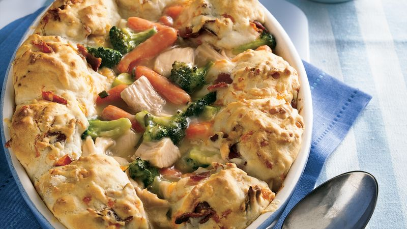 Turkey-Biscuit Pot Pie