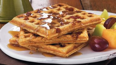 Maple-Bacon Buttermilk Waffles