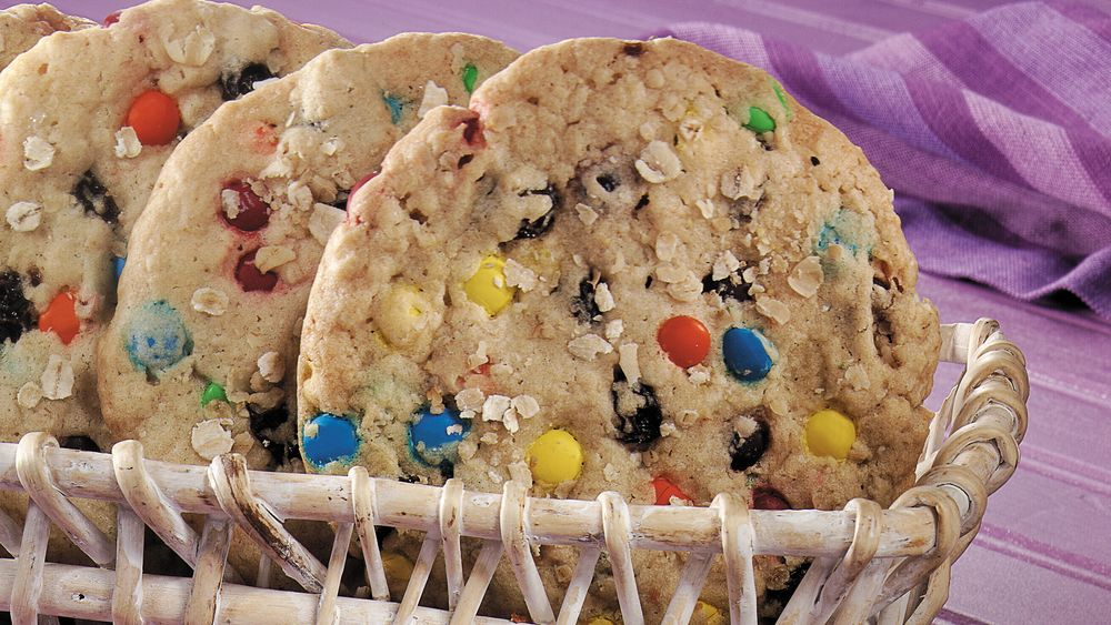 Giant Oatmeal Candy Cookies