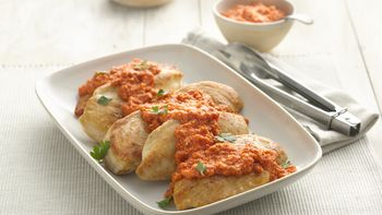 Pan-Fried Chicken with Romesco Sauce