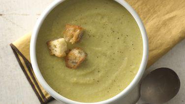 Sopa de puerro y espárragos