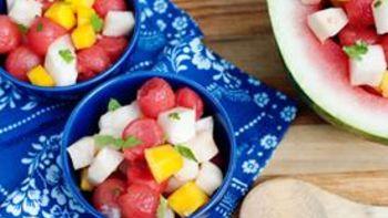 Watermelon, Mango, and Jicama Salad