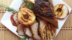 Lomo de Cerdo con Manzanas Asadas