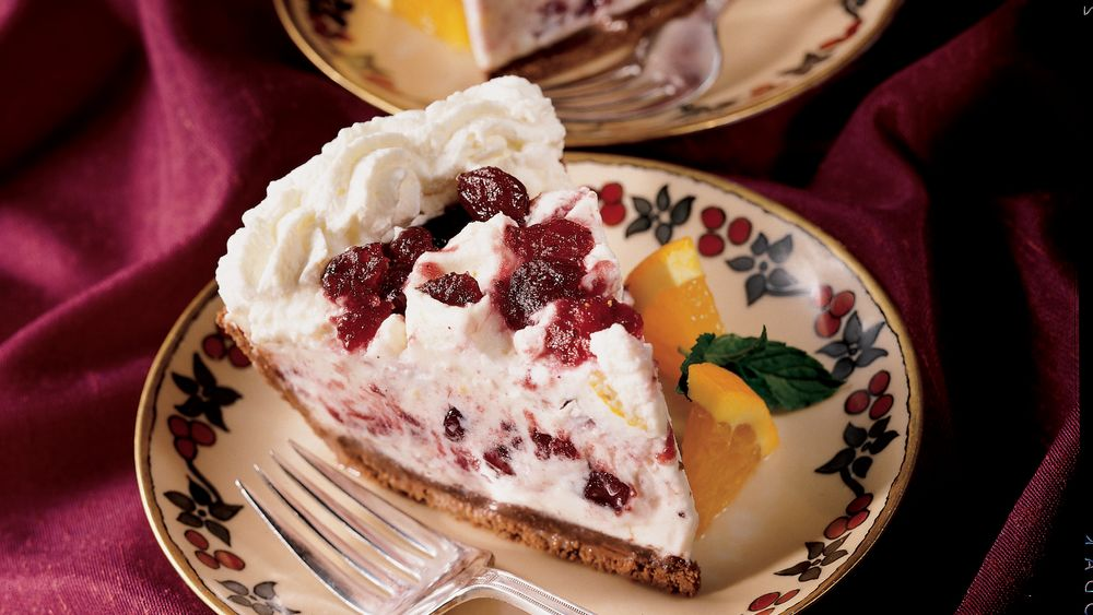 Double Chocolate Cranberry Mousse Pie