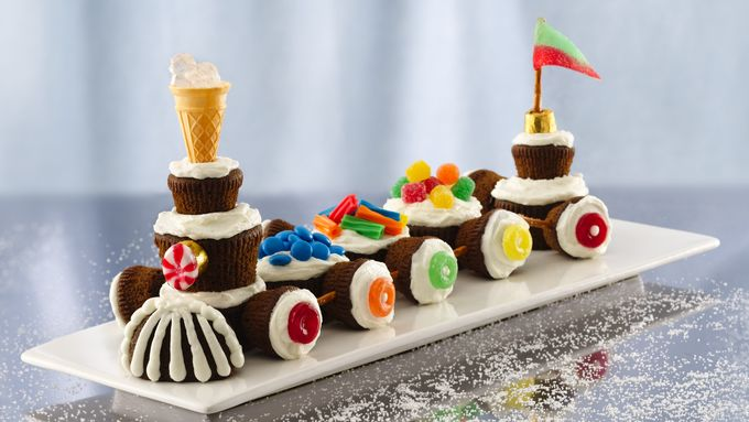 Snow-Capped Gingerbread Trains