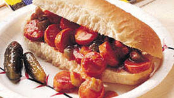 Sloppy Hot Dogs