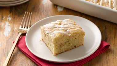 Overnight Eggnog Streusel Coffee Cake