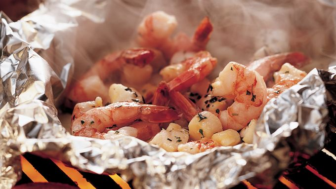 Grilled Herbed Seafood Foil Packs