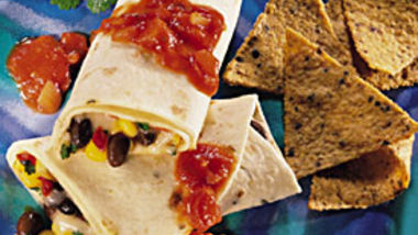 Corn and Black Bean Wraps
