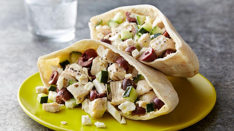 Greek Chicken Salad Sandwiches