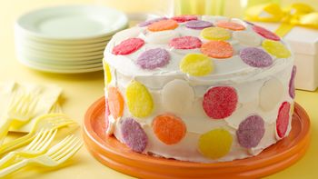 Simple Gum Drop Polka Dot Cake