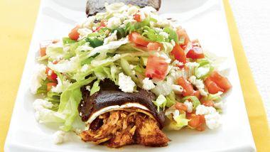 Chicken Mole Enchiladas Supreme