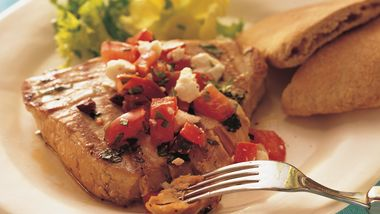 Grilled Mediterranean Tuna Steaks